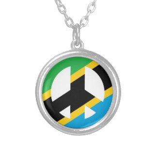 Tanzanian Peace Symbol Silver Plated Necklace