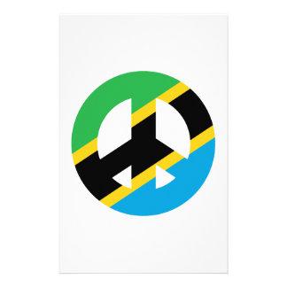 Tanzanian Peace Symbol Stationery Design