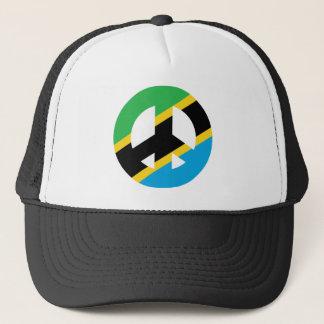 Tanzanian Peace Symbol Trucker Hat