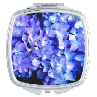 Tanzanite  Blue Hydrangea Makeup Mirrors