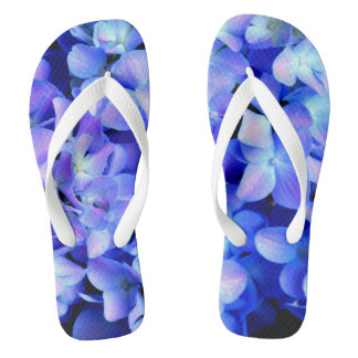 Tanzanite  Hydrangeas Flip Flops
