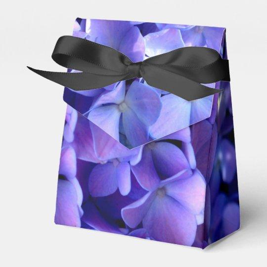 Tanzanite  Hydrangeas Wedding Favor Box