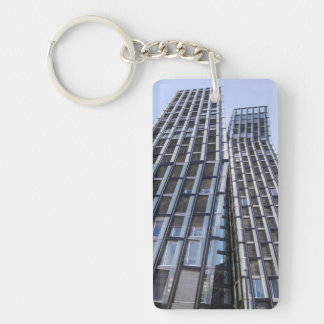 Tanzende Türme, Hamburg, Germany Single-Sided Rectangular Acrylic Keychain
