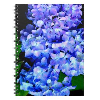 Tanzinite Hydrangea Notebooks