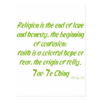 Tao Te Ching On Religion Postcard