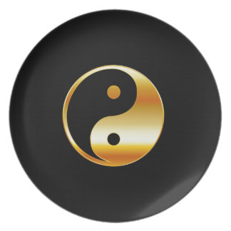 Taoism- Daoism- Ying and Yang symbol Party Plate