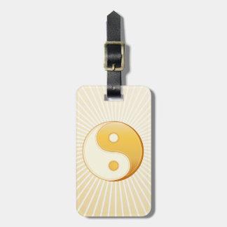 Taoism Symbol Luggage Tag