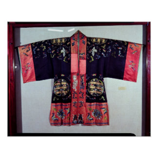 Taoist Robe With Tai Chi Yin and Yang Poster
