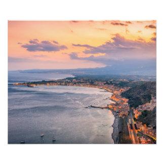 Taormina at Dusk Photo Print