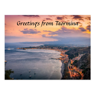 Taormina at Dusk Postcard