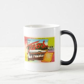 Taos New Mexico NM Old Vintage Travel Souvenir Magic Mug