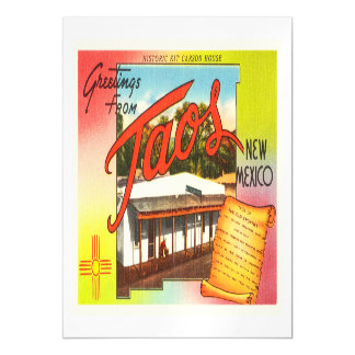 Taos New Mexico NM Old Vintage Travel Souvenir Magnetic Card