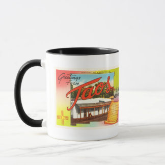 Taos New Mexico NM Old Vintage Travel Souvenir Mug