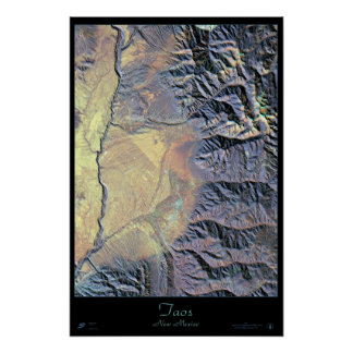 Taos, New Mexico satellite poster