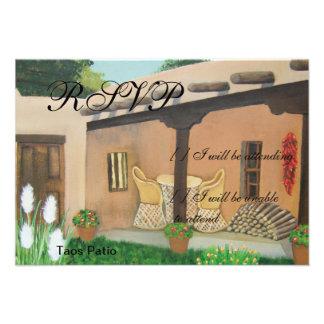 Taos Patio Landscape Custom Announcements