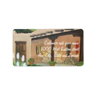 Taos Patio ~ Landscape Label
