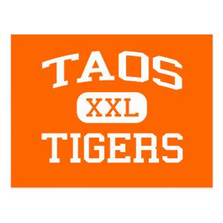 Taos - Tigers - Taos High School - Taos New Mexico Postcard