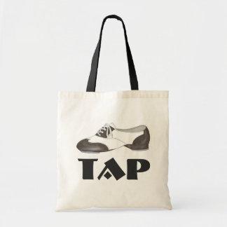 Tap Dance Black White Oxford Shoe Dancer Gift Bag