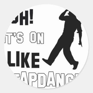 Tap dance designs round sticker