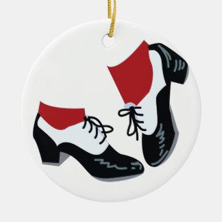 Tap Dance Round Ceramic Ornament