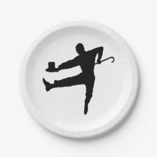 Tap Dancer 7 Inch Paper Plate