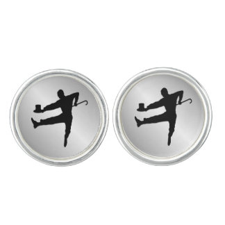 Tap Dancer Cuff Links