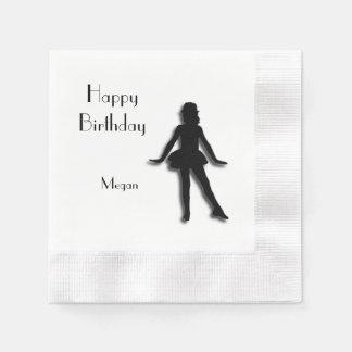 Tap Dancer Happy Birthday Disposable Napkin