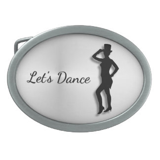 Tap Dancer Let's Dance Belt Buckle