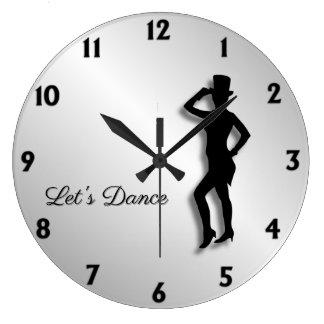 Tap Dancer Let's Dance Large Clock