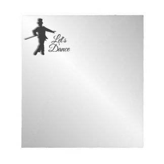 Tap Dancer Let's Dance Notepad