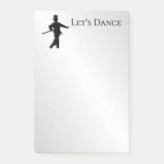 Tap Dancer Let's Dance Post-it Notes