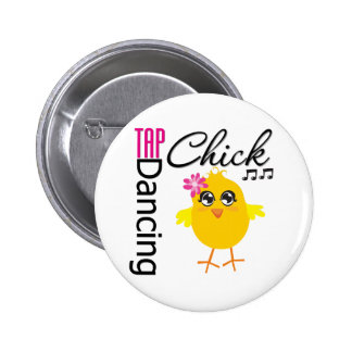 Tap Dancing Chick 2 Inch Round Button