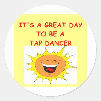 TAP dancing Classic Round Sticker