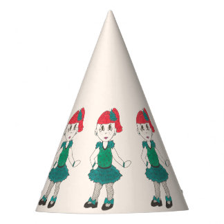 Tap Dancing Girl Dance Recital Costume Teal Green Party Hat