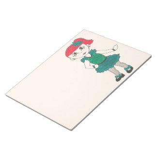 Tap Dancing Girl Dance Teacher Recital Gift Teal Notepad