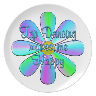 Tap Dancing Happy Party Plate