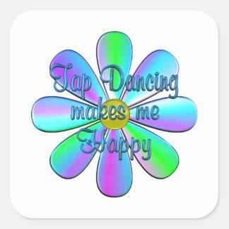 Tap Dancing Happy Square Sticker