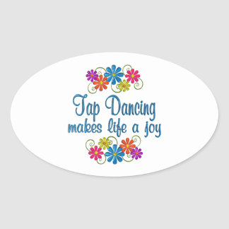 Tap Dancing Joy Oval Sticker