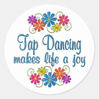 Tap Dancing Joy Round Sticker