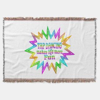 Tap Dancing More Fun Throw Blanket