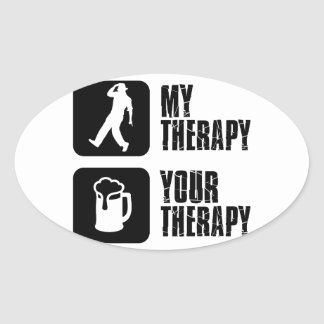 tap dancing my therapy oval sticker