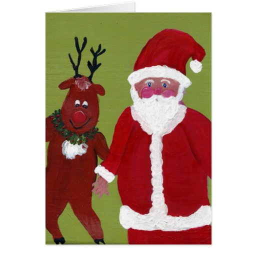 Tap Dancing Reindeer & Santa CARD - Today's Best