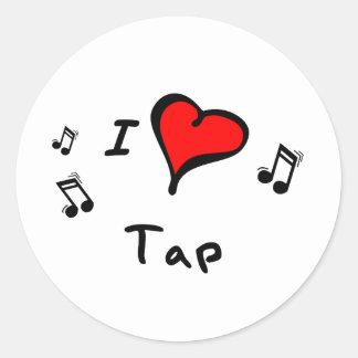 Tap I Heart-Love Gift Round Sticker