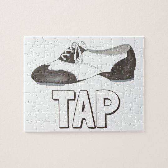 TAP Shoe Dance Teacher Dancer Tapdance Gift Jigsaw Puzzle