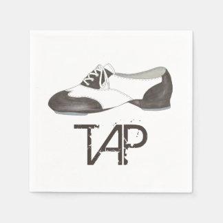 Tap Shoe Print Dance Teacher Dancer Tapdance Decor Disposable Napkins