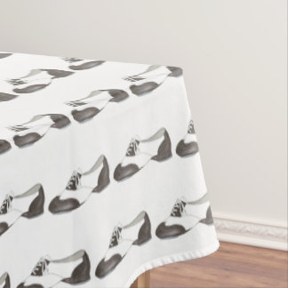 Tap Shoe Tapdance Black and White Dance Oxford Tablecloth