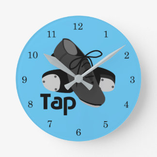 Tap Shoes Round Clock