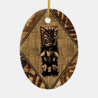Tapa Tiki Vintage Surfboard Ornament