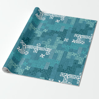 Tapa Tuesday - blue Wrapping Paper