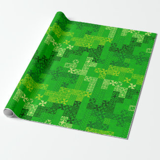 Tapa Tuesday - green Wrapping Paper